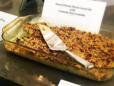 Sweet Potato Mash with Nut Crumble